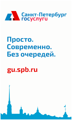 "Баннер ""Санкт-Петербург. Госуслуги."""