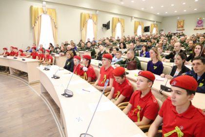 Представители юнармейского отряда