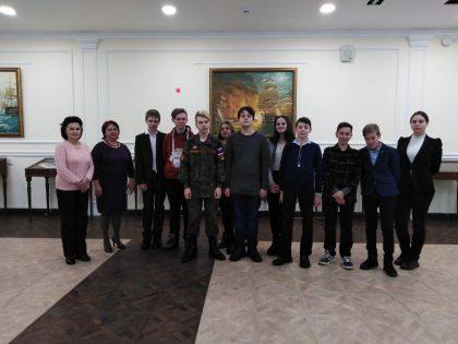Обучающиеся 15 школы в Центральной военно-морской библиотеке