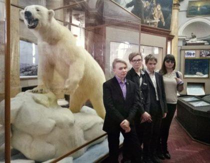 Активисты РДШ в музее Арктики и Антарктики